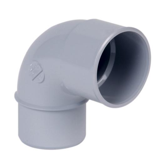 Coude PVC gris MF 87°30 D50