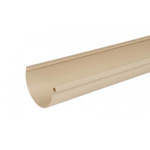 Gouttière demi-ronde à joints de 25 PVC sable 4m