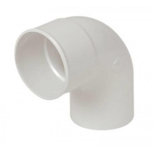 Coude PVC blanc MF 87°30 D80