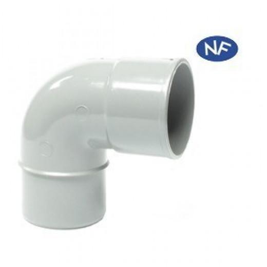 Coude PVC gris MF 87°30 D100 MEP