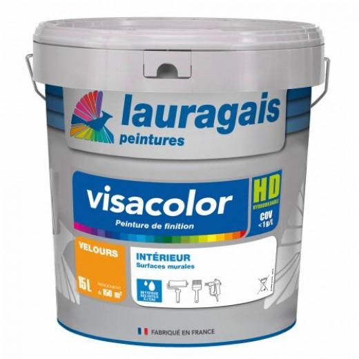 Peinture Visacolor VELOURS blanc 15L intérieur décorative