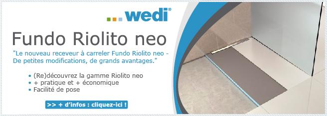 (Re)découvrez les receveurs à carreler Riolito neo Wedi !